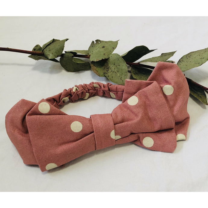 Hair Bow Dotty Pink
