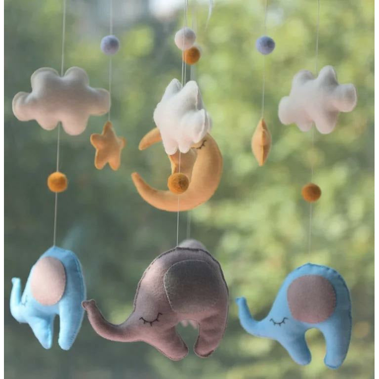 Mobile Elephant- hand made