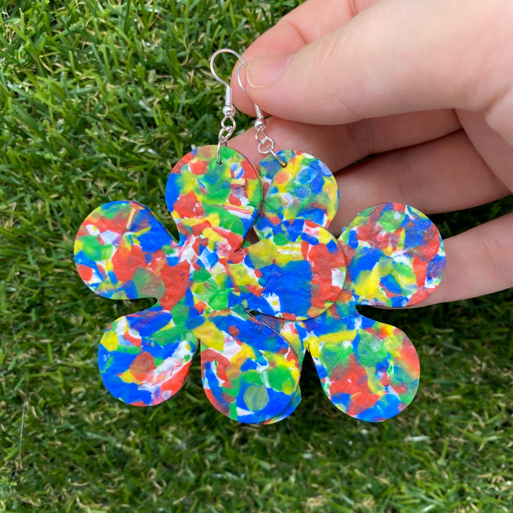 Chubby flower earrings