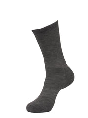 *MERINO WOOL* FITTED CREW SOCK - Charcoal Gray (2 pack)