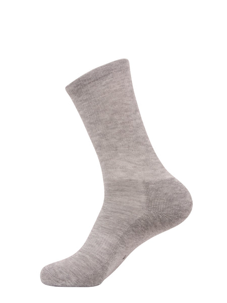 *NEW* FITTED CREW SOCK 1.0 - Heather Gray (2 pack)