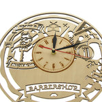 Horloge Barber Shop<br>en Bois