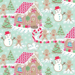 Christmas Fabric Sugar Rush Blue