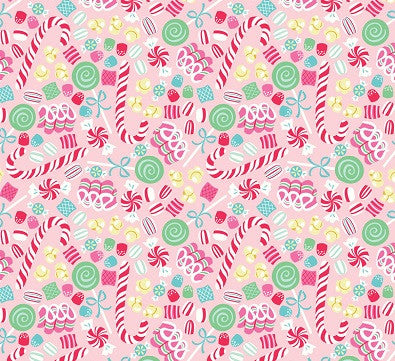 Christmas Fabric Sugar Rush Candy Remnant
