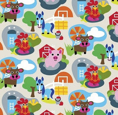 Farm Fabric Large Animals
