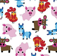 Farm Fabric Small Animals