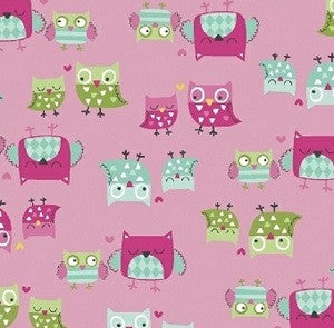 It's a Hoot Owl Fabric Pink
