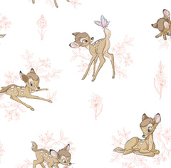 Bambi Toile Pink Fabric