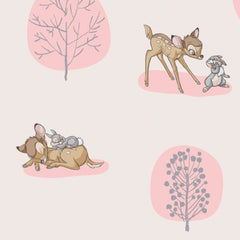 Bambi Forest Scene Fabric