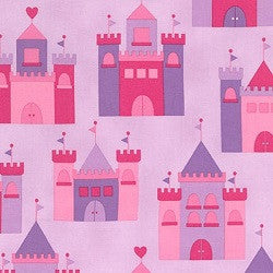 Princess Life Pink Castle  Fabric