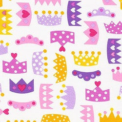 Princess Life Crown Cotton Fabric
