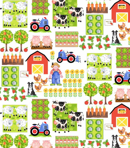 Apple Tree Farm Fabric