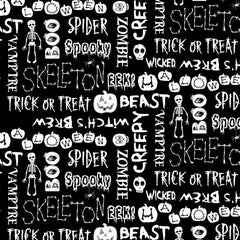 Boo Crew Halloween Words Fabric