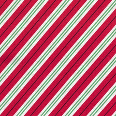 Christmas Fabric Candy Cane Stripe