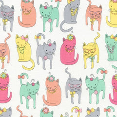 Dressy Cats Cotton Fabric