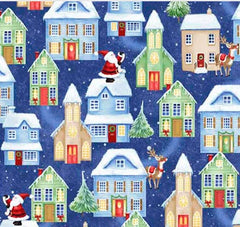 Christmas Village Fabric - Houses