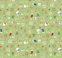 Cozy Christmas Fabric Green Main
