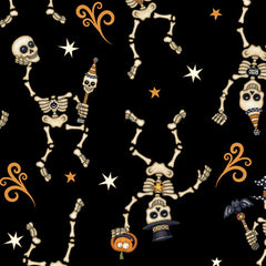 Creepy Hollow Skeleton Fabric