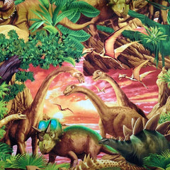 Dinosaur Fabric for Children Remnant