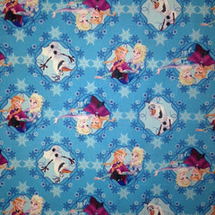Frozen Fabric Ice Skating Frames Blue