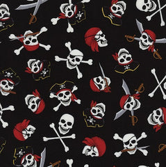 Skull and Crossbones Fabric