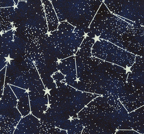 Space Constellations Fabric Glow in Dark