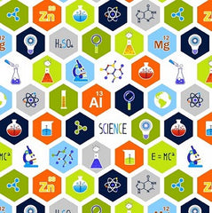 Geek Chic Science Symbols Fabric