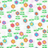 Kidz Flower Fabric White Timeless Treasures Remnant