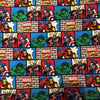 Marvel Jersey Knit Fabric Comic Wall