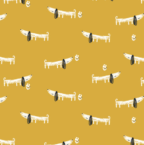 Mori Dogs Jersey Knit Fabric