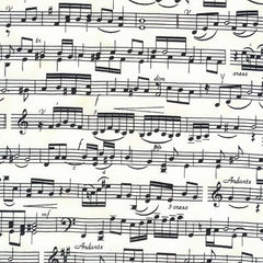 Sheet Music Cotton Fabric