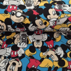 Fleece Fabric Mickey Mouse Blue