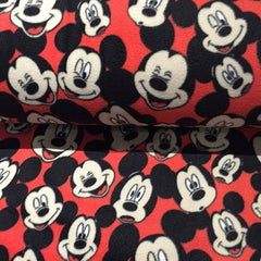 Fleece Fabric Mickey Mouse Red