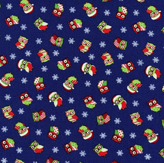 Christmas Fabric Cotton Mini Owls