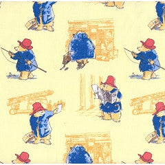 Paddington Bear Fabric Toile in Marina Chamomile Remnant
