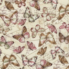 Butterflies Fabric - Paris Remnant
