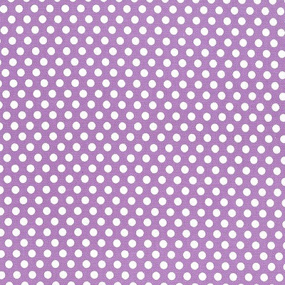 Small Fault Polka Dots - Kiss Dot -  Purple Cotton Fabric - 1/2 Metre