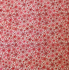 Riley Blake Home for the Holidays Snowflake Red 1/2 mtr