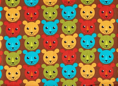 Roar Boys Lion Fabric - Kaufman 1/2 Metre