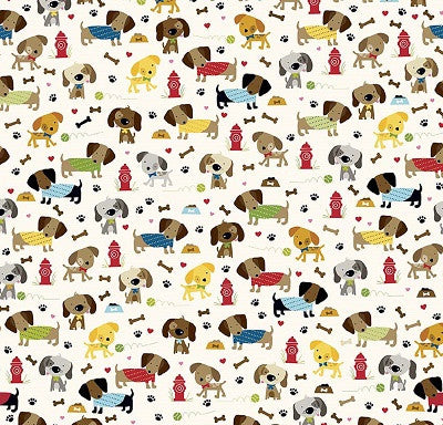 Rover - Dogs Fabric