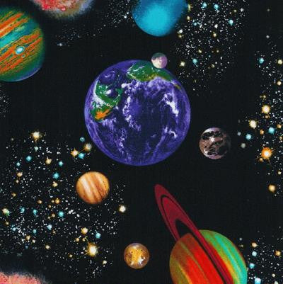 Space Fabric for Children by Timeless Treasures 1/2 Mtr