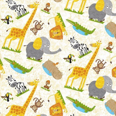 Safari Expedition Animal Fabric
