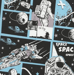 Astronaut Comic Fabric
