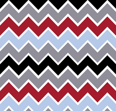 Speedster Chevrons Blue Cotton Fabric Riley Blake 1/2 Mtr