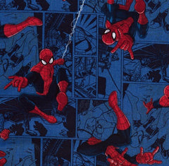 Spiderman Blue Character Toss Fabric