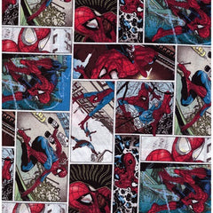 Spiderman White Comic Fabric