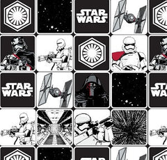 Star Wars Force Awakens Grid Fabric