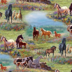 Wildflower Trails Horse Fabric