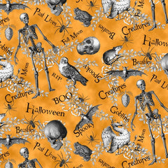 All Hallows Eve Fabric - Skulls