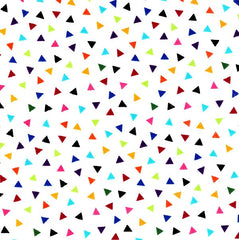 Colourworks Rainbow Triangles Fabric